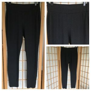 Eileen Fisher Charcoal Ponte Leggings SZ XS
